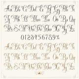 Lekki tatuażu typeface ilustracja wektor