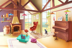 Lekki Żywy Izbowy wnętrze ilustracji