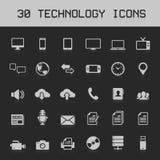 30 technologii ikon wektoru Lekka ilustracja Obrazy Royalty Free