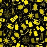 Lekkich temat nowożytnych prostych ikon koloru bezszwowy wzór eps10 Obraz Stock