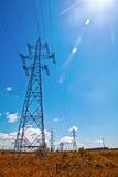 lekkie błękit linie władzy nieba słońce Zdjęcie Stock