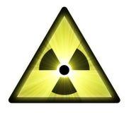 lekkie błyski znak radioaktywnego ostrzeżenie royalty ilustracja
