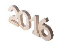 Lekkie drewniane postacie 2016 na tle Dekoracyjny element dla Obraz Royalty Free