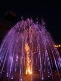 Lekkie i Muzyczne fontanny na majdanie Nezalezhnosti w Kijów Obrazy Stock