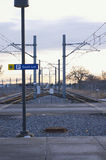 Lekkie linie kolejowe przy fortu Snelling stacją Obrazy Royalty Free