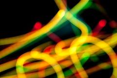 Lekkie linie w zmroku Fotografia Stock