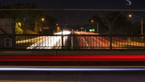 Lekkie smugi na 15 autostradzie blisko w centrum San Diego Fotografia Stock