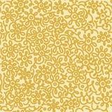 Lekkiego kwiecistego chamomile retro rocznika bezszwowy wzór szablon Obrazy Royalty Free