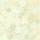 Lekkiego kwiecistego chamomile retro rocznika bezszwowy wzór szablon ilustracja wektor