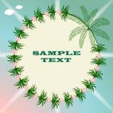 Lekkiego lata tropikalny tło z drzewkami palmowymi ilustracja wektor