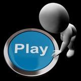 Lekknappen betyder lekar underhållning och gyckel royaltyfri illustrationer