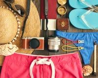 Lekmanna- lopp- och strandlägenhet Royaltyfri Bild