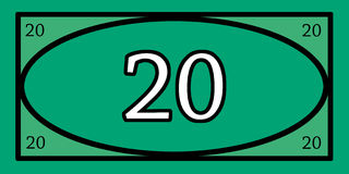 Lekpengar 20 Fotografering för Bildbyråer