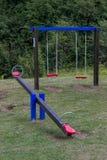 Lekplats för barn i naturen, sunt ställe för barn 2 Fotografering för Bildbyråer