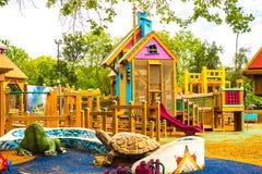 Lekplats för barn` s arkivfoton