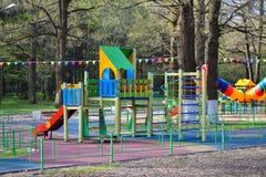 Lekplats för barn för utomhus- barnlekplats utomhus- Royaltyfria Foton