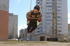 lekplats för barnspelrum Fotografering för Bildbyråer