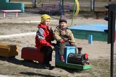 lekplats för barnspelrum Arkivbild