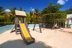 Lekplats för kidsl på RIU-Tequilahotellet Royaltyfri Foto