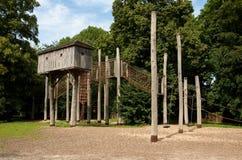 Lekplats i Kessel-Lo, Belgien Arkivbilder