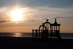 Lekplats på stranden Arkivbilder
