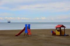 Lekplats på stranden Royaltyfria Foton