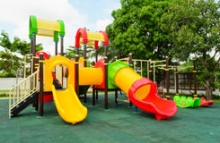 Lekplats utan barn Arkivfoton