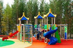Lekplats utan barn royaltyfria foton