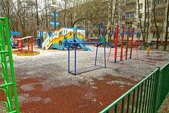 Lekplatsen i Moskva Arkivbild