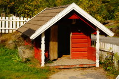 Lekplatshus, Telemark, Norge Royaltyfri Fotografi
