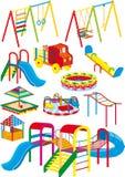 Lekplatsset stock illustrationer