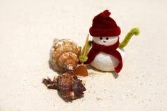 Leksak av snögubben arkivfoto