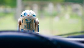Leksak för tappning R2-D2 Star Wars Royaltyfri Bild