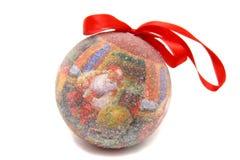 Leksak för träd för Santa Claus bolljul Arkivbilder
