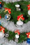 Leksak på julgranen för det nya året Arkivfoton