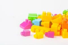 Leksak som bygger färgrika kvarter royaltyfri bild