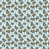 Leksakbjörnar med bollar på en blå bakgrund vektor illustrationer