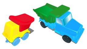 Leksaken åker lastbil för små barn Fotografering för Bildbyråer