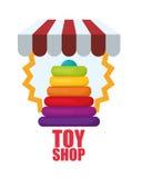 Leksaken shoppar design Arkivbilder