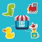 Leksaken shoppar design Arkivbild