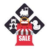 Leksaken shoppar design Royaltyfri Bild