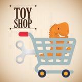 Leksaken shoppar design Royaltyfria Foton