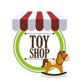Leksaken shoppar design Fotografering för Bildbyråer