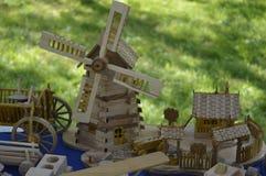 Leksaker av trä Royaltyfri Bild