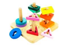 Leksaker för barn, figursåg royaltyfri fotografi