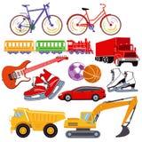 Leksaker för barn` s stock illustrationer