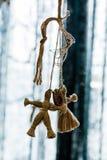 Leksaker för barn` som s göras av rep royaltyfri bild