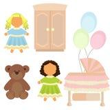 Leksaker för flicka` s Royaltyfri Fotografi