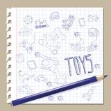 Leksaker för handattraktionklotter Royaltyfri Fotografi