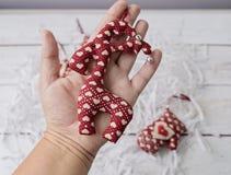 Leksaker för handgjorda garneringar för jul mjuka Royaltyfri Foto